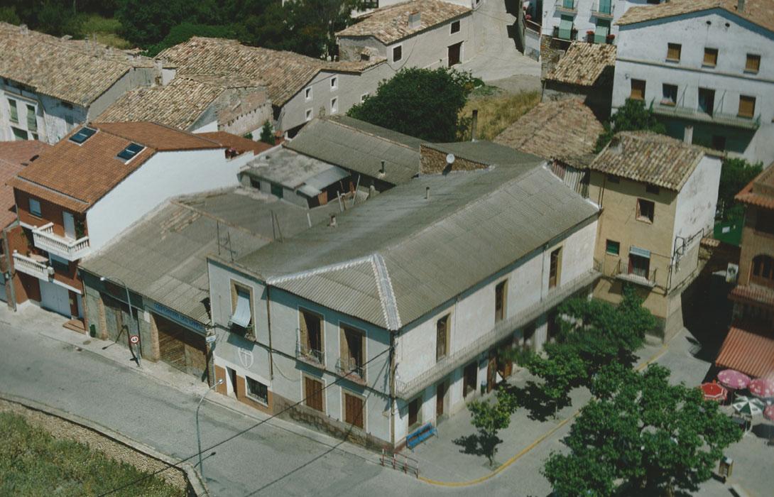 Vista aérea de las antiguas instalaciones de la Cooperativa en la Plaza Portal del Sol.